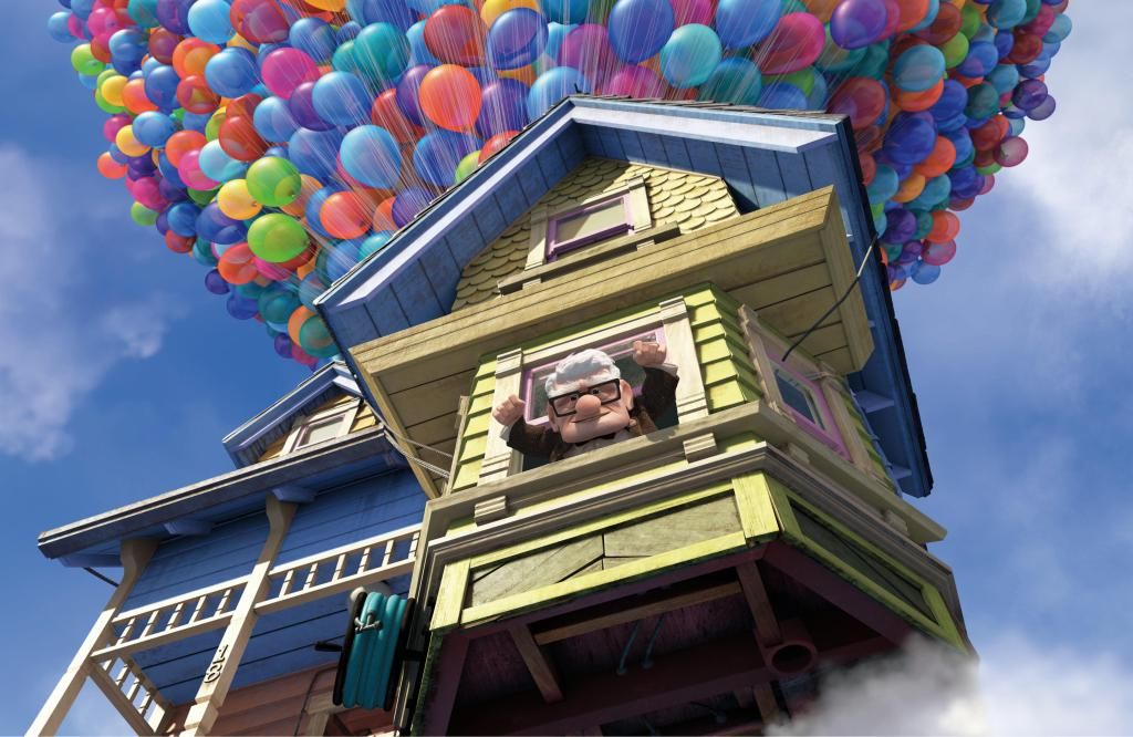 ... Einen Tollkühnen Plan: Um Nicht In Altenheim Zwangseingewiesen Zu  Werden, Knüpft Er Tausende Luftballons Am Dach Fest Und Fliegt Mit Seinem  Haus ...